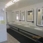 modern washroom inside