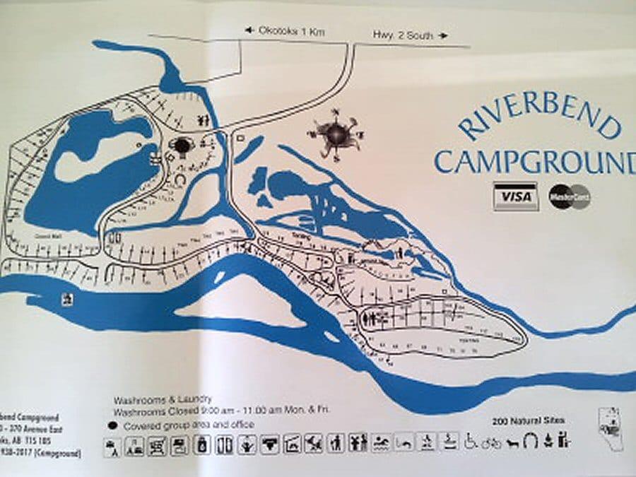 riverbend map 900 Riverbend Campground Okotoks Alberta