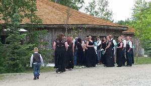Wedding, country wedding, summer wedding, campground hall, gazebo, hall rental