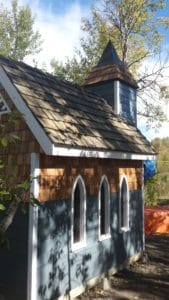 Tiny chapel at Riverbend campground