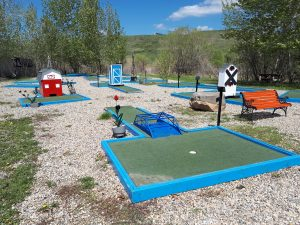 18 hole mini-golf course Riverbend Campground