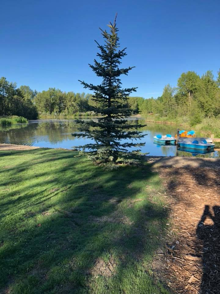 Campsite located on Riverbend pond