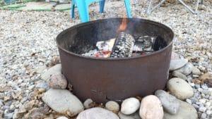 Campsite fire pit