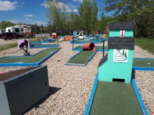 Seasonal Campers at Riverbend Campground enjoy an 18 hole mini golf